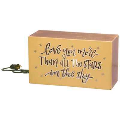 Primitives by Kathy LED Box Sign Twinkle Twinkle Little Star Do You Know How Loved You Are
