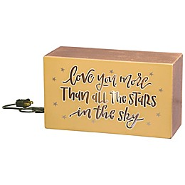 """Primitives by Kathy® """"Love You More"""" Light Box Sign"""