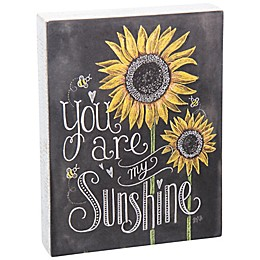"""Primitives by Kathy® """"You Are My Sunshine"""" Chalk Box Sign in Black"""