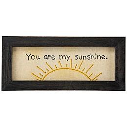 "Primitives by Kathy® ""You Are My Sunshine"" Framed Stitchery Wall Art"