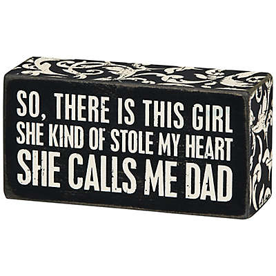 "Primitives by Kathy® ""There Is This Girl"" Box Sign in Black"