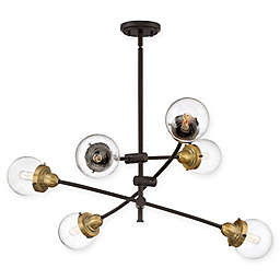 Quoziel® Trance 6-Light Chandelier in Western Bronze