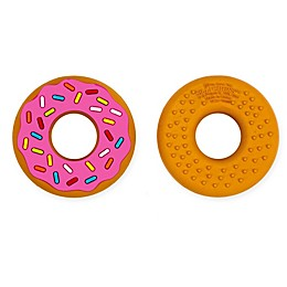 Silli Chews Pink Donut Teether Toy