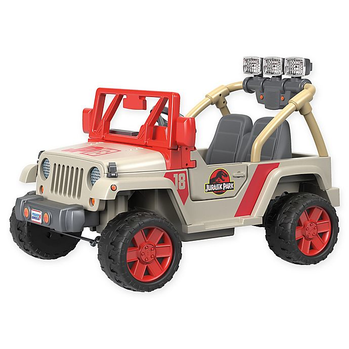 Alternate image 1 for Fisher-Price® Power Wheels® Jurassic Park Jeep® Wrangler Ride-On