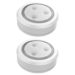 Brilliant Evolution 3-Inch LED Wireless Ultra Thin Puck Lights in White (Set of 2)