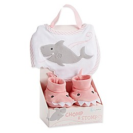 "Baby Aspen Size 0-9M 2-Piece ""Chomp & Stomp"" Bib and Booties Gift Set"