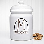 Monogram Elegance Cookie Jar