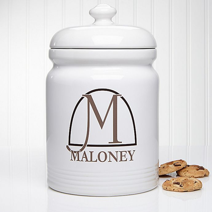 Alternate image 1 for Monogram Elegance Cookie Jar