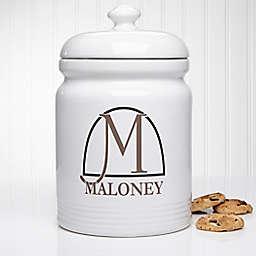 Monogram Elegance Cookie Jar