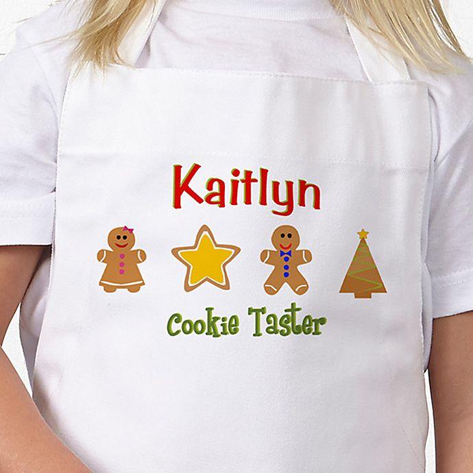 Alternate image 1 for Lil' Christmas Baker Kid's Apron in White/Pink