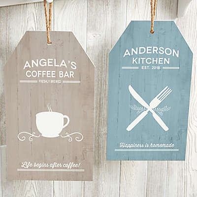 Farmhouse Kitchen 9.5-Inch x 17-inch Wood Wall Tag