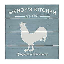 Farmhouse Kitchen 12-Inch Square Wood Slat Sign