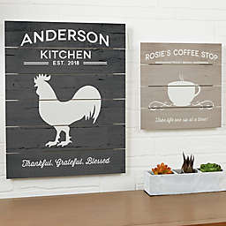 Farmhouse Kitchen 20-Inch x 16-Inch Wood Slat Sign