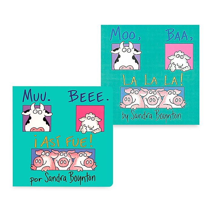 Alternate image 1 for Moo Baa LaLa Book (English and Spanish Versions)
