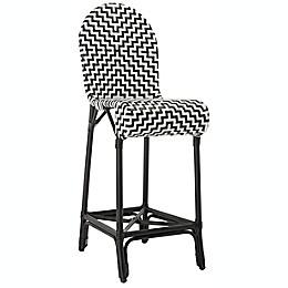 Safavieh Tilden Indoor/Outdoor Bar Stool in Black/White