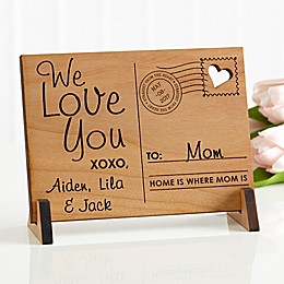 Sending Love To Mom/Dad Wood Postcard