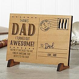 Sending Love To Dad Wood Postcard