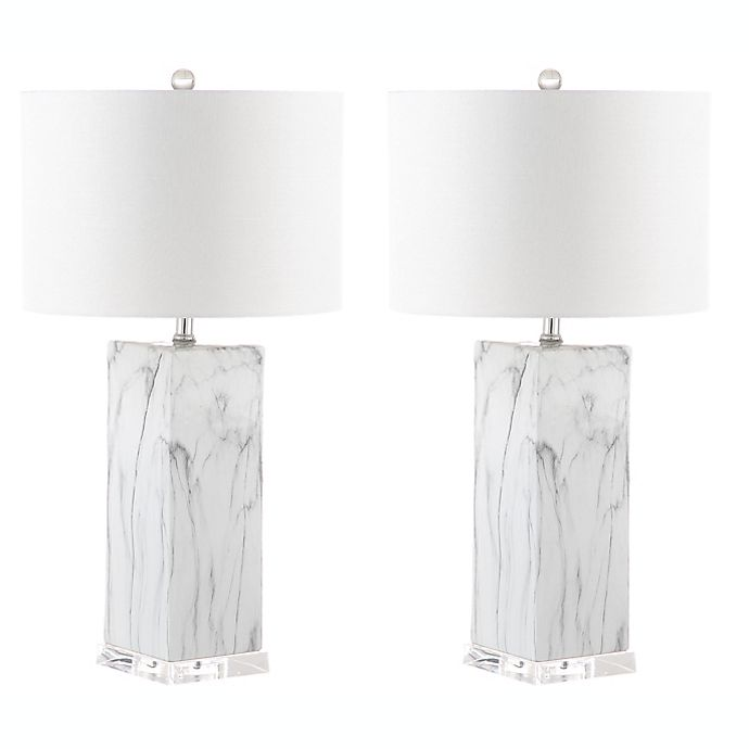Alternate image 1 for Safavieh Olympia Marble 1-Light Table Lamps (Set of 2)