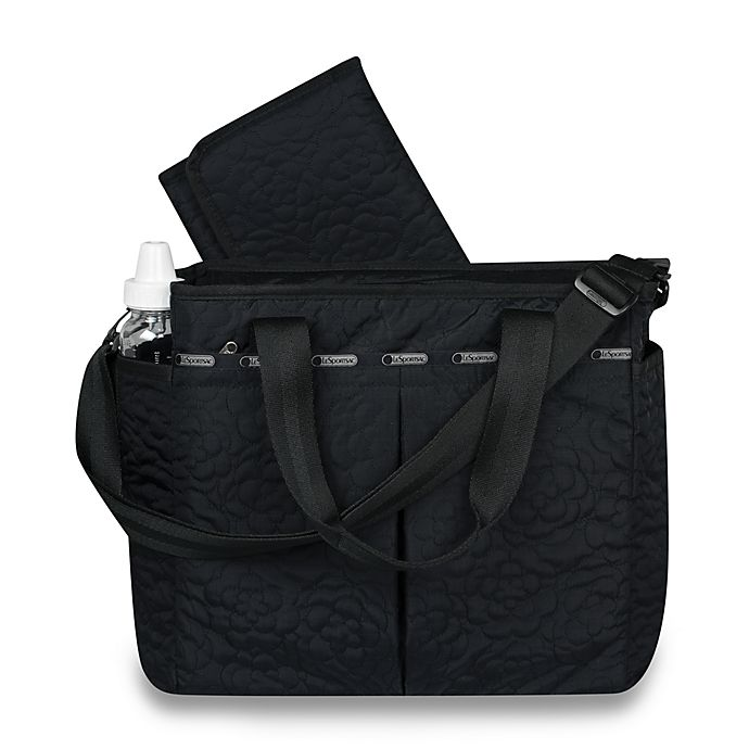 Lesportsac Ryan Diaper Bag Quilted Black