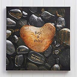 Heart Rock Canvas Wall Art