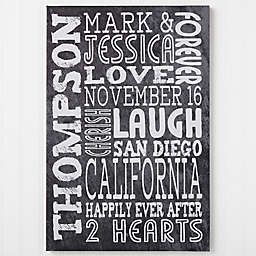 Just Us 20-Inch x 30-Inch Canvas Wall Art