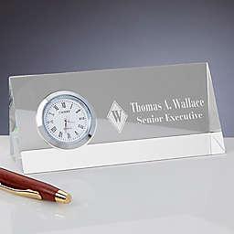 Executive Crystal Triangle Side Clock