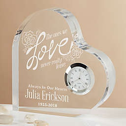 The Ones We Love Engraved Heart Clock