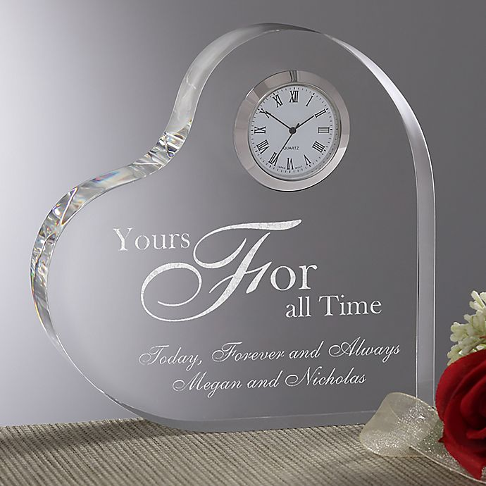 Alternate image 1 for A Time for Love Heart Clock
