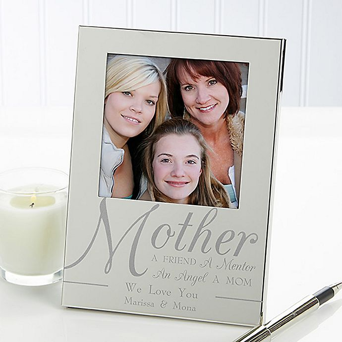 For My Mother 4.5-Inch x 6.5-Inch Picture Frame in Silver | Bed Bath ...