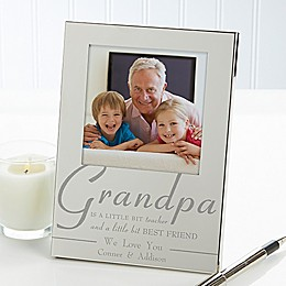 For My Grandpa 4.5-Inch x 6.5-Inch Picture Frame in Silver