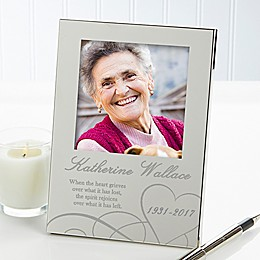 Remembering...Memorial 4.5-Inch x 6.5-Inch Picture Frame in Silver
