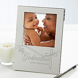 Godparent's 4.5-Inch x 6.5-Inch Picture Frame in Silver