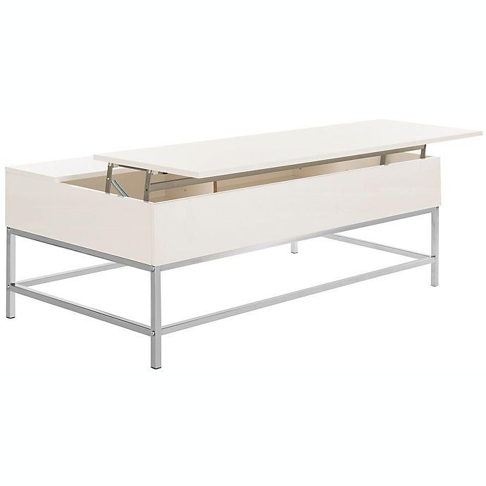 White Lift Top Coffee Tables: Safavieh Carolina Lift-Top Coffee Table In White