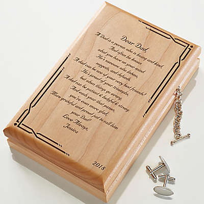 Dear Dad Engraved Wood Valet Box