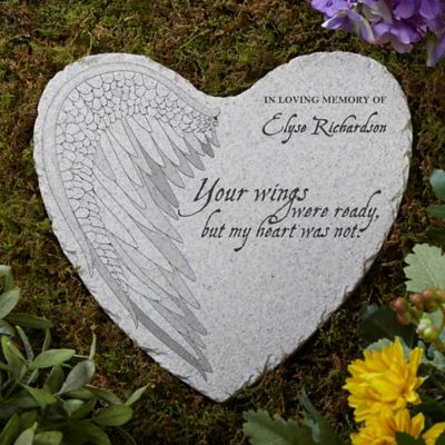 Your Wings Memorial Heart Garden Stone Bed Bath Amp Beyond