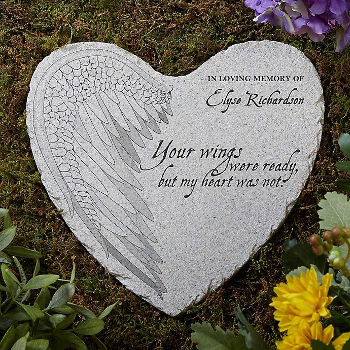 Alternate image 1 for Your Wings Memorial Heart Garden Stone