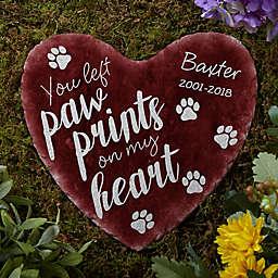 Paw Prints On My Heart Garden Stone