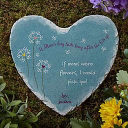 A Mom's Hug Heart Garden Stone
