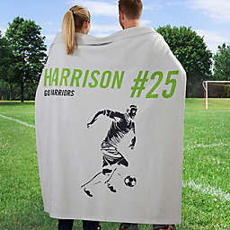 Sports Enthusiast 50-Inch x 60-Inch Sweatshirt Throw Blanket