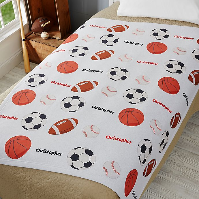 Alternate image 1 for All About Sports 50-Inch x 60-Inch Sweatshirt Throw Blanket