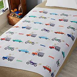 Modes of Transportation 50-Inch x 60-Inch Sweatshirt Throw Blanket