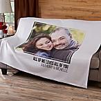 Romantic Photo 50-Inch x 60-Inch Sweatshirt Throw Blanket