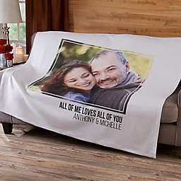 Romantic Photo 50-Inch x 60-Inch Sweatshirt Throw Blanket