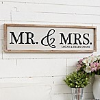 """Mr. & Mrs."" Barnwood Frame Wall Art"