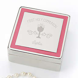 First Communion Engraved Jewelry Box