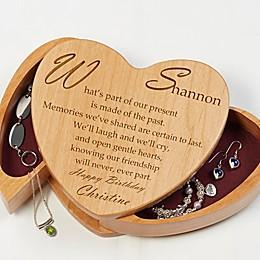 Friend of My Heart Wooden Heart Jewelry Box