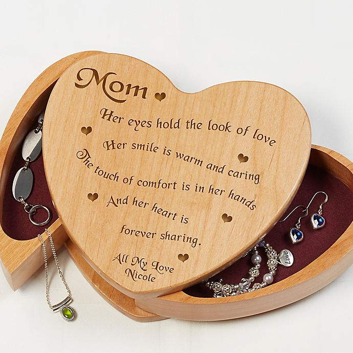 Alternate image 1 for Someone Like You Wooden Heart Jewelry Box
