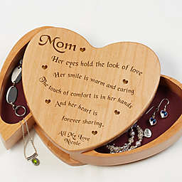 Someone Like You Wooden Heart Jewelry Box