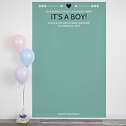 Baby Shower 58-Inch x 90-Inch Photo Backdrop
