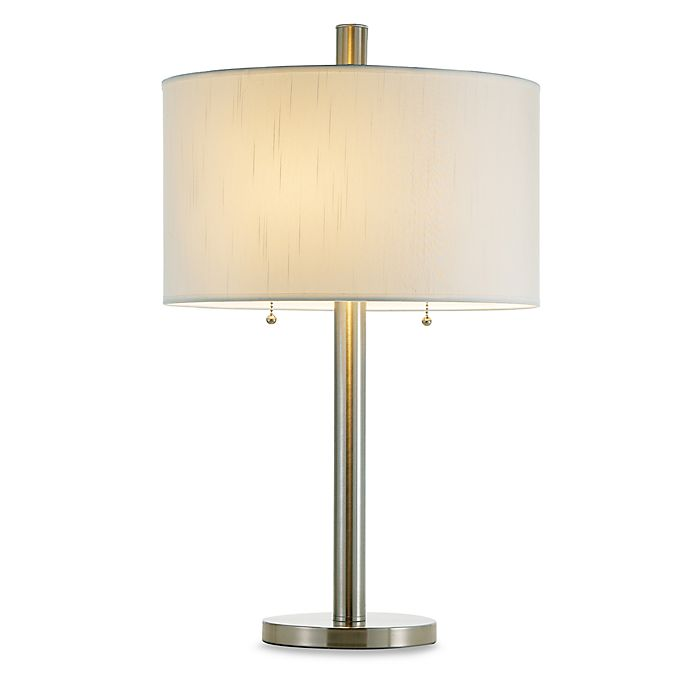 Alternate image 1 for Adesso® Boulevard Table Lamp in Satin Steel